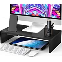 Ameriergo 16.5 Inch Monitor Riser Stand with Phone Holder