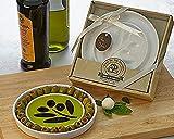 Artisano Designs Taste of The Orchard Oil-Vinegar Appetizer Plate Dipping Dish