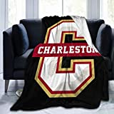 College of Charleston Cougars University Blanket,Ultra Soft Micro All Season Anti-Pilling Flannel Blanket Bed Couch Living Room 50'X40'