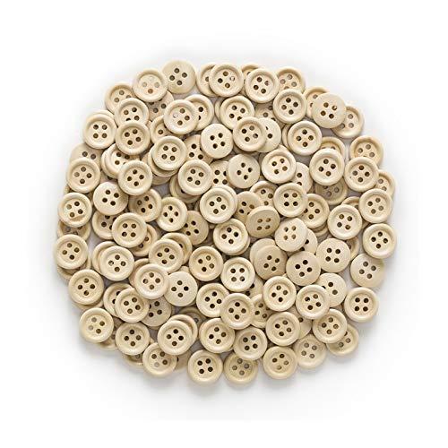 HHOSBFSS 10-25mm, 30 / 50pcs 4 Agujeros Botones de Madera para Coser Scrapbooking, suéter/Abrigo/Traje Artículos de Ropa, Accesorios Hechos a Mano. (Color : Natural, Size : 10mm)