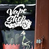 Vape Wall Window Decal Sticker Vape Shop Vaping Vape Store Logo Handmade 1530