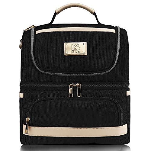 AI.BO&S Bolsa de almuerzo aislante para hombre, bolsa de almuerzo con compartimiento aislante, color negro