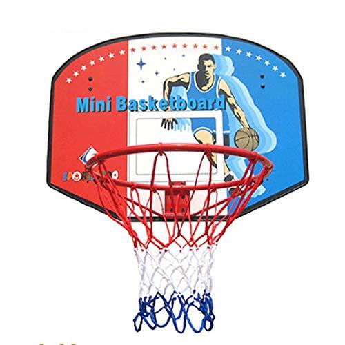 Marker Basketballkorb Outdoor mit ständer Big Basketballkorb Indoor/Outdoor-Set, Hängen Holz Basketballkorb mit Standard Kugel 45cm Durchmesser