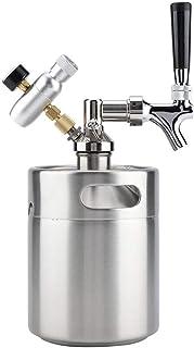 Casiers à vin Dispositif à vin Baril de bière, Baril de 2L Mini Baril de bière en Acier Inoxydable avec Robinet Système de...
