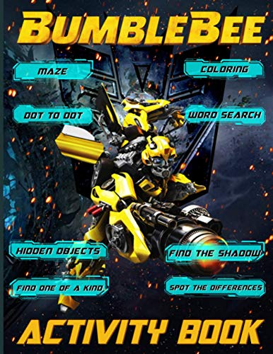 Bumblebee Activity Book: Color Wonder Relaxation An Adult, Kid Dot To Dot, Maze, One Of A Kind, Spot Differences, Coloring, Word Search, Hidden Objects, Find Shadow Activities Book Stress Relieving