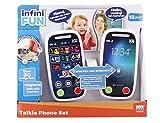 Infini Fun- Tech Too Walkie Talkie para niños pequeños (con función de Llamada Realista, Alcance de 90 m) (DES18040)