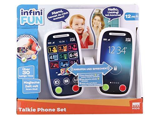 Infini Fun DES18040 Tech Too Phone Set, Walkie Talkie für Kleinkinder mit realistischer Anruf-Funktion, Reichweite 90 m