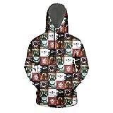 Men Disturbed-Heavy-Metal-Bands-Album-red- 3D Printed Funny Drawstring Pocket Pullover Hoodie Sweatshirt