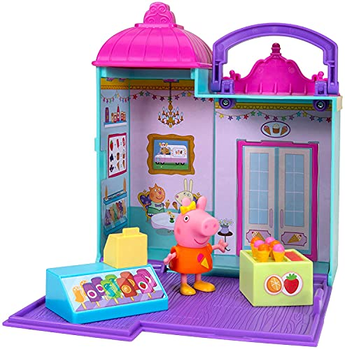 Peppa Pig Little Ice Cream Shop Playset – Including 1 Ice Cream Shop Playset, 1 Exclusive Figure, 1 Cash Register, 1 Ice Cream Stand – Toys for Toddlers and Kids