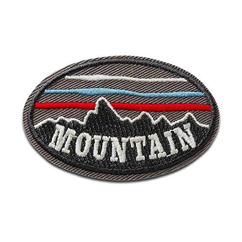 Mountain Montaña Montañas - Parches termoadhesivos bordados aplique para ropa, tamaño: 5,4 x 3,5 cm