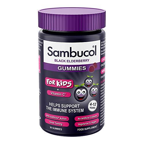 Sambucol Kids Gummies Vitamin C Immune Support Supplement, 30 Gummies