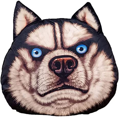 NSDRBX Ranking TOP18 Simulation Husky Dog Head Pillow Can Be Used Max 67% OFF De to