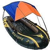 FAMLYJK Im Freien Boot Sonnenschirm Zelt (2 Personen) und Camping Sun Shelter Angelzelt Sonnenschutz Baldachin (Kein Boot Im Lieferumfang Enthalten),185 * 155Cm
