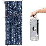 Naturehike2020年版 高級ダウン 封筒型 寝袋 超軽量 オールシーズン 防水 2人用に連結可能 圧縮袋+メッシュ収納袋付 (ネイビー)