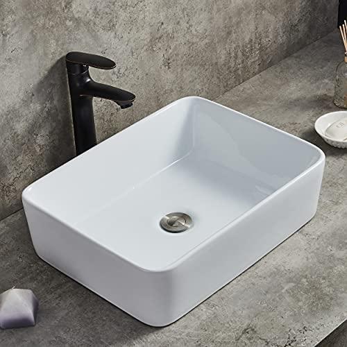 Ufaucet Modern Porcelain Above Counter White Ceramic Bathroom Vessel...