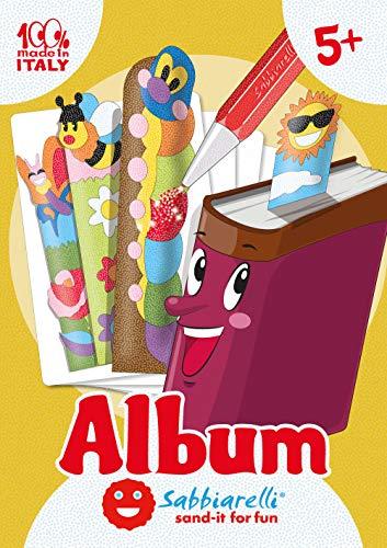 Sabbiarelli Sand-it for Fun - Album Bookfriends: 15 Lesezeichen zum bemalen mit Sand (Sand Nicht enthalten), Geeignet für Kinder Jahre 5+