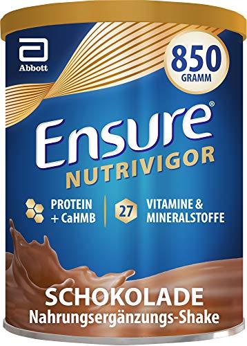 Ensure NutriVigor Schokolade – Nahrungsergänzungspulver mit Proteinen – Gluten- und laktosefrei – 1 x 850 g