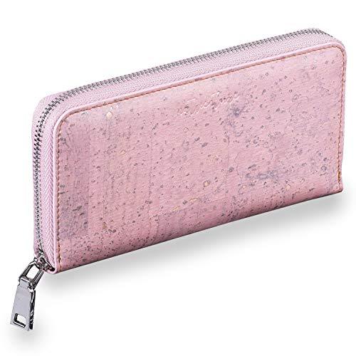 natventure® Damen Kork Geldbörse Acadia mit RFID Schutz – Vegan Leder – Eco Frauen Geldbeutel aus portugiesischem Kork – Portemonnaie
