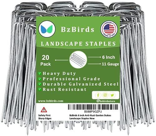 BzBirds USA Made 6 inch 11 Gauge Garden Landscape...