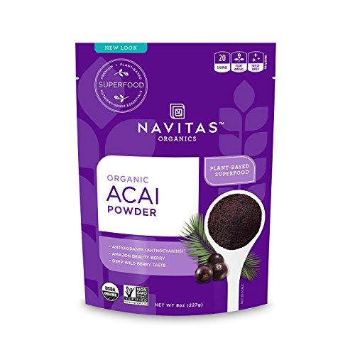 Navitas Organics Acai Powder, 8 oz. Bag — Organic, Non-GMO, Freeze-Dried, Gluten-Free, 76 Servings