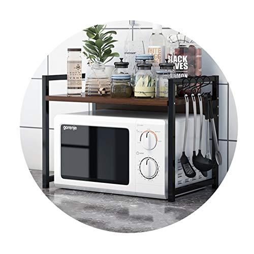FXPCYGZ Mikrowelle Rack Toaster Stand Regal Küche liefert Geschirr Lagerung Zähler Space Saver Cabinet Organizer Spice Holder Spritzwassergeschützt Einfach zu säubern Kratzfest(B)