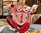 LMK Ropa de Dormir Conjunto de Pijamas de Mujer Pijamas de Lencería Primavera Y Otoño Algodón Puro de Manga Larga Pijama de Niña Animal Lindo Traje Servicio a Domicilio,Extragrande,Extragrande
