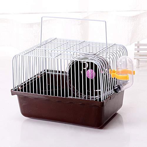 Terrarum huisdier hamster kooi met hardloopwiel waterfles voedsel bekken huis muizen huis woonplaats decoraties, groen