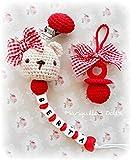 PROMO FEBRERO Chupetero crochet personalizado + Chupete crochet