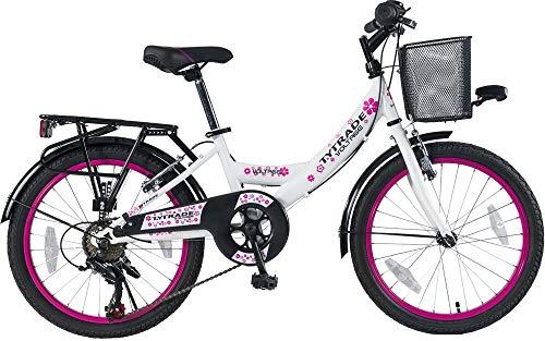 k 20 Zoll Kinder Mädchen City Fahrrad Kinderfahrrad Cityfahrrad Citybike Mädchenfahrrad Bike Voltage Lady Weiss TYT19-040
