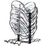 X-cosrack Pentola Padelle Coperchio Cremagliera Portacoperchi Coperchi di Varie Misure , con 12 Divisori Regolabili in Altezza, 4 Metodi, Nero