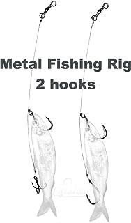 2 pcs Fishing Tip Up Leader Rig 15cm/6