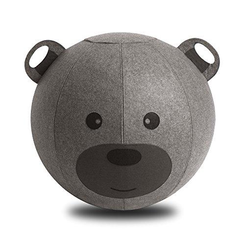 Vivora Niko Children's Anti Burst Inflatable 18 Inch Spherical Bounce Exercise Ball Ergonomic Chair, Brown Bear