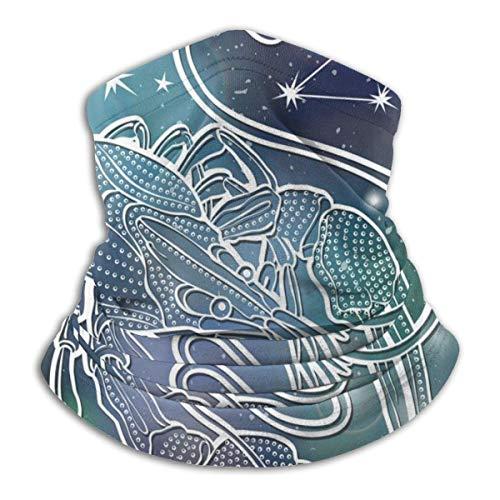 XaMiner Krebs Horoskop Sternbild Sterne Himmel Sterne Kopfbedeckung Halsmanschette Wärmer Winter Skiröhrenschal Fleece Gesicht Co-ver Winddicht