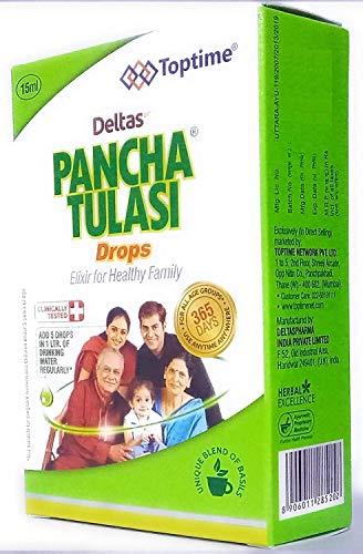 Deltas Pancha Tulasi Tulsi Drops Ocimum Sanctum 15 ML.