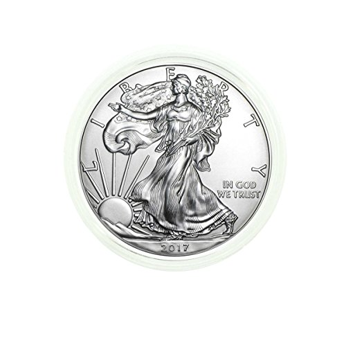 2017 American Silver Eagle in Direct Fit Air Tite with Our Certificate of Authenticity