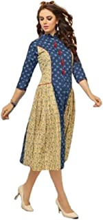Ethnic Embroidery Printed Anarkali Short & Long Top Plus Size Kurta Kurti for Women