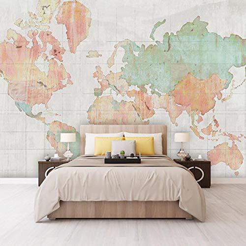 Nórdico Pintado A Mano Hermoso Mapa De Atmósfera Fondo De Tv Pintura De Pared Mapa Del Mundo Papel Tapiz De Sala De Estar