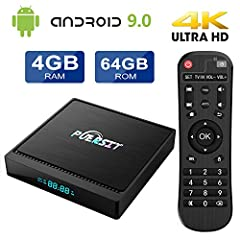 【OS and Processor】 Puersit TV box runs the Android 9.0 OS, and configured powerful Amlogic S905X2 Quad Core ARM Cortex A53 @2GHz and ARM Dvalin MP2 GPU. 【4GB RAM + 64GB ROM】Puersit X96 mini TV box is configured 4G RAM &64G ROM built-in memory.And it ...