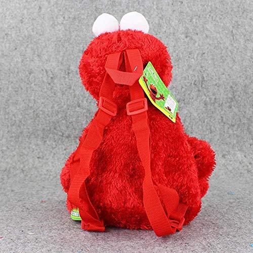 Leyue Anime Sesame Street Peluche Mochila Dibujos Animados Elmo Cookie Monster Big Bird Relleno Mochila 46 cm 18 Pulgadas Cool Schoolbag (3 PCS) (Color : 3 Pcs)