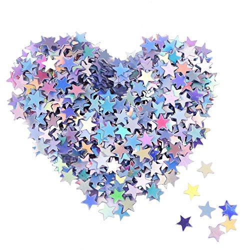 Confetti Stelle Glitter Coriandoli Stelline Olografico Confetti per Decorazione di Natale, Articoli per Feste di Nozze e Nail Art, Multicolori, 1/4 Pollice