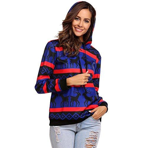FRAUIT capuchonpullover dames hoodies Kerstmis pullover vrouwen Christmas Reindeer Printed Lange Sleeve Kerstmis sweatshirt pullover jurk 36-50 top T-shirt blouse tops