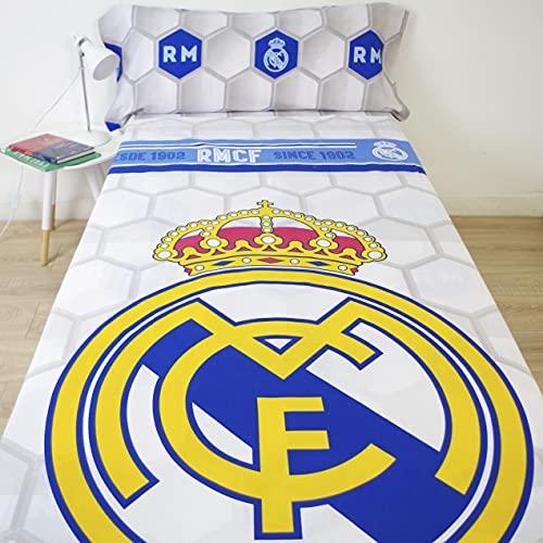 10XDIEZ Juego de sabanas Real Madrid 182056 | (Cama 90 cm - Estampado)