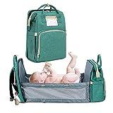 Earthily Baby Wickelrucksack Wickeltasche - Babytasche Rucksack,Wasserdicht Oxford Babyrucksack mit 1 Stück Wickelauflage und 2 Kinderwagengurten