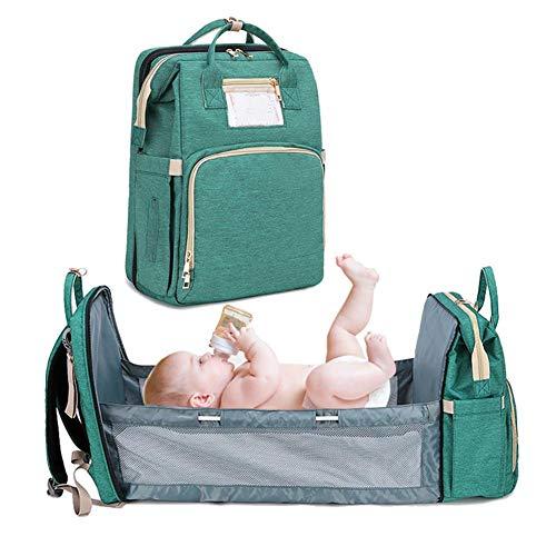 Baby Wickelrucksack 4 In 1 Multifunktions-Reisebett Kinderwagen Organizer, Cabrio Leichte Baby Wickeltasche Bett Reisetasche, Wickeltaschen, Große Kapazität, Wasserdicht Für Unterwegs