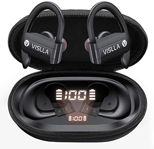 Vislla Bluetooth Headphones Sports Wireless Earbuds TWS BT5 0 Stereo Deep Bass Waterproof Earphones product image