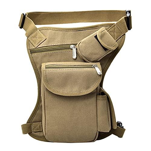 Bolsa de cintura de lona para motocicleta para hombres mujeres táctica militar al aire libre bicicleta de viaje ciclismo senderismo camping multi-bolsillo muslo gota bolsa