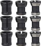 Adaptador de Portabrocas,Biluer 3 Sets Adaptador De Fresadora Piezas 6/6.35 / 8mm Adaptador De Mandril para Máquina de Grabado y Fresadora...