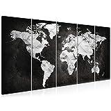 decomonkey Bilder Weltkarte Landkarte 200x80 cm 5 Teilig