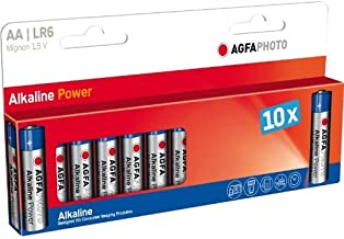 AgfaPhoto 59869Pack of 10Alkaline Batteries LR6/AA 2600mAh