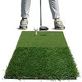 Rukket Tri-Turf Golf Hitting Mat Attack | Portable Driving, Chipping, Training Aids for Backyard...